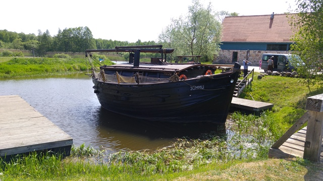 Lakescape and historic ships as cultural heritage